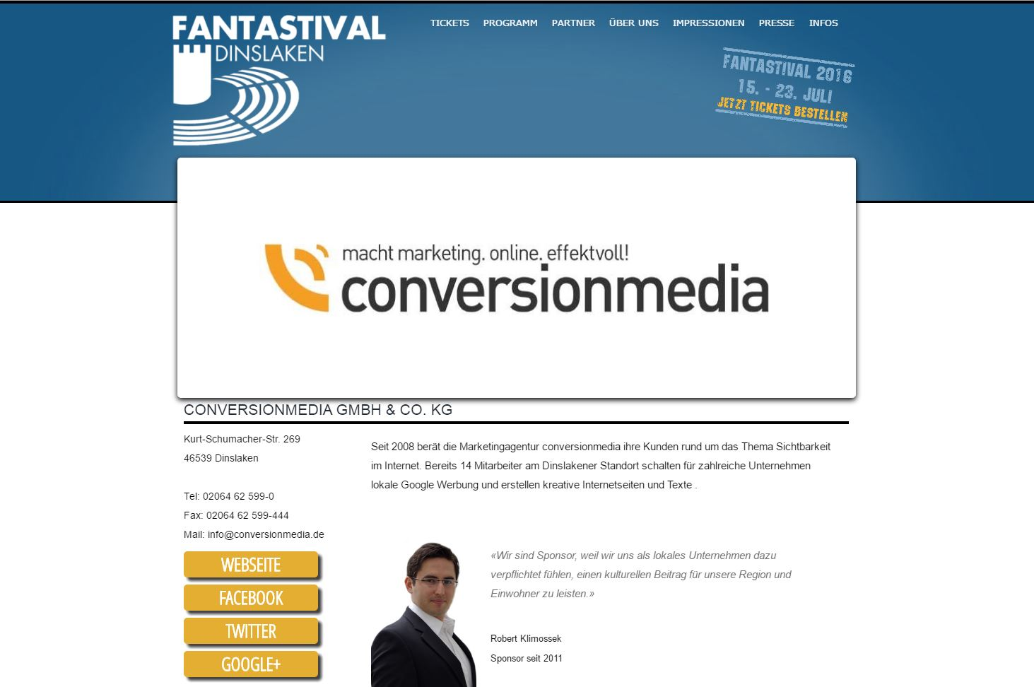 conversionmedia ist Sponsor des Fantastival