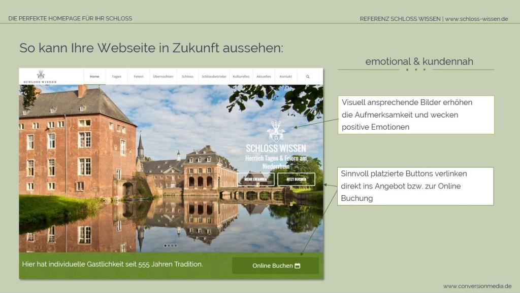 Homepage von Schloss Wissen