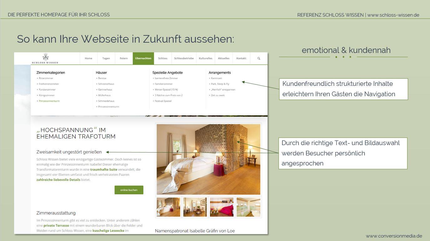 so sieht eine kundenfreundliche schloss webseite aus - Wie Die Perfekte Leseecke Erstellt