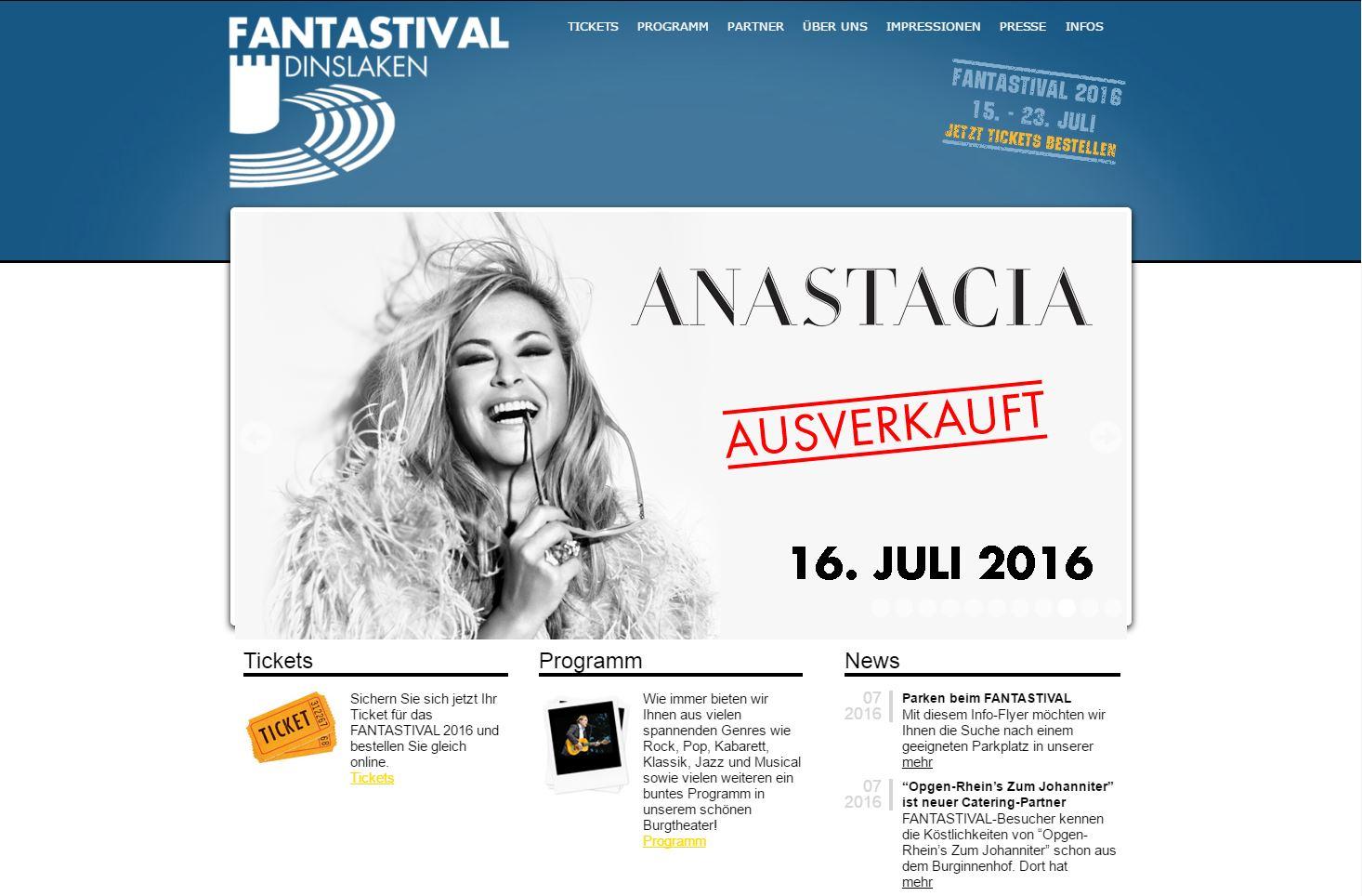 Webseite des Fantastival