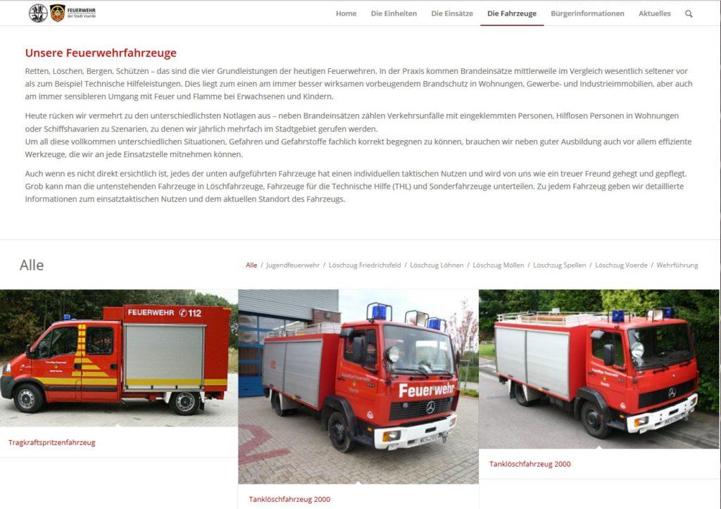 Feuerwehrfahrzeuge der Feuerwehr Voerde