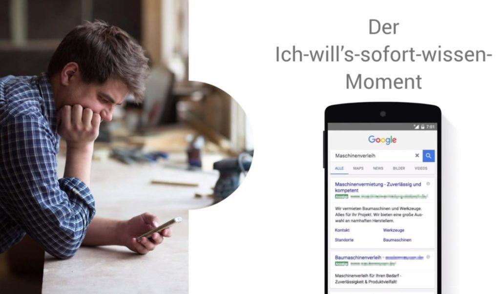 Google AdWords Anzeige mit Sitelinks