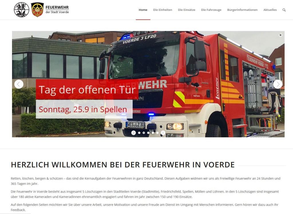 Homepage Feuerwehr Voerde