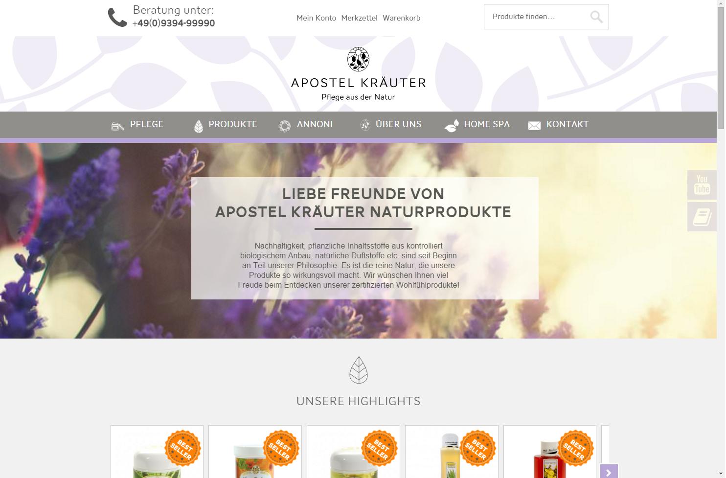 Startseite Apostel Kräuter