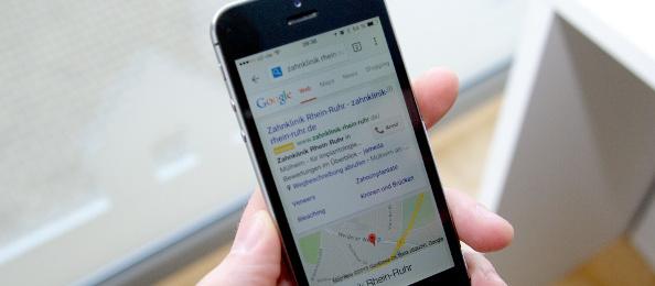 Ansicht mobile Werbung mit Google AdWords