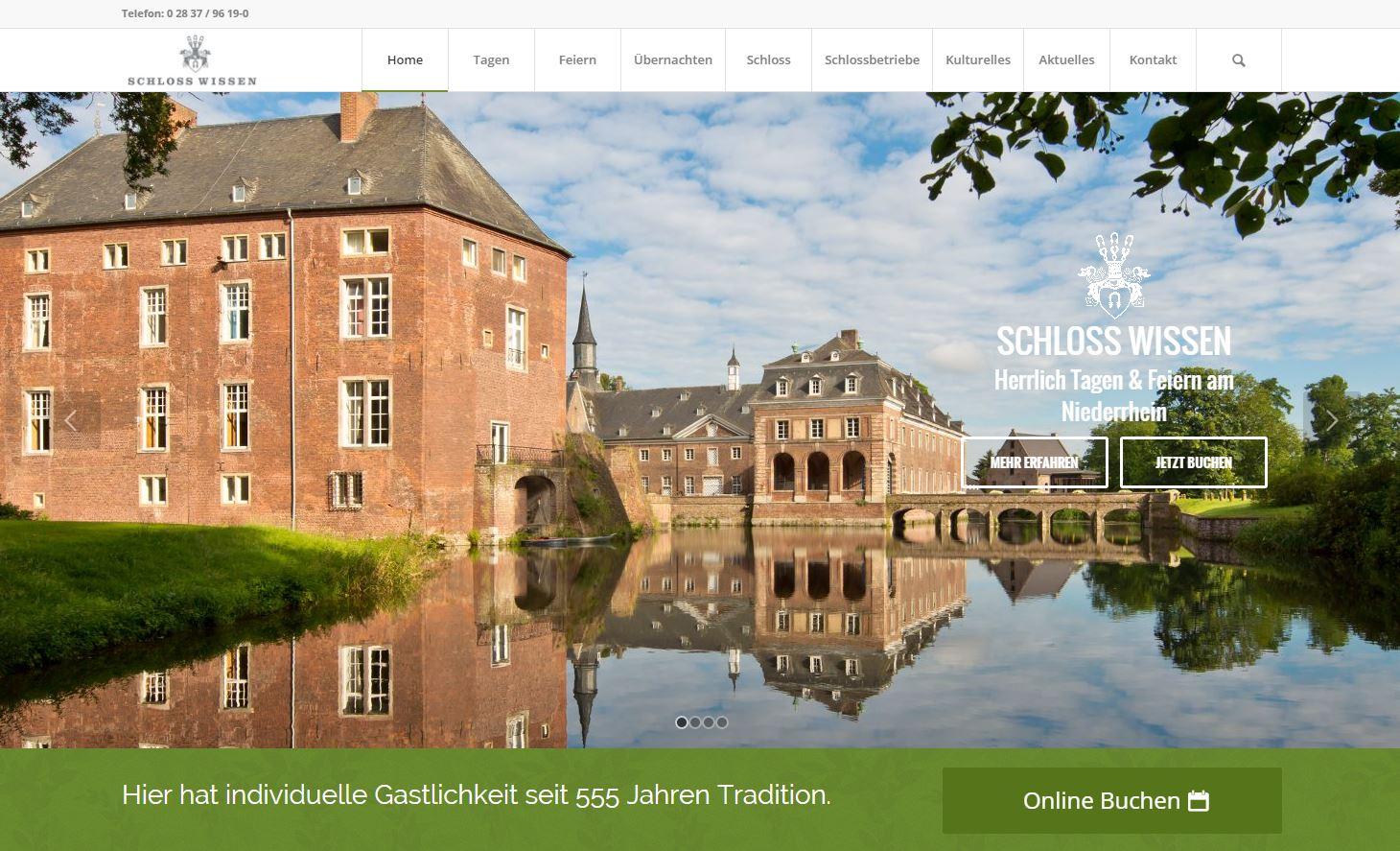 Schloss Wissen Homepage