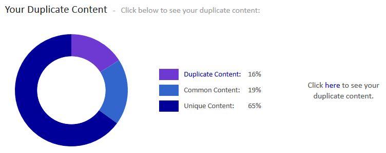 Siteliner zur Überprüfung von Duplicate Content