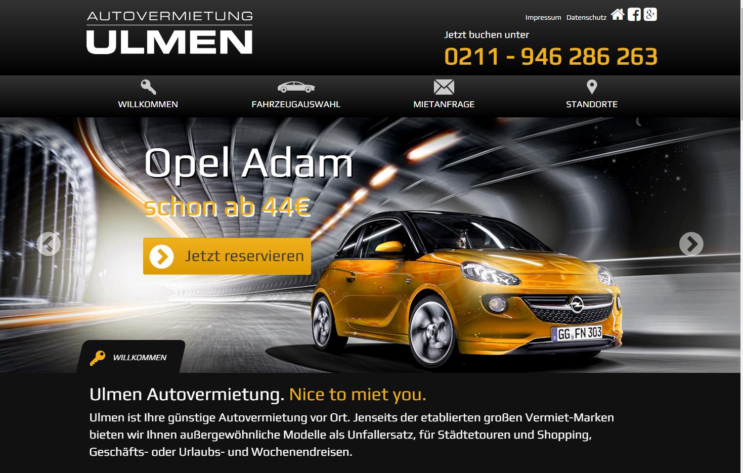 Webdesign Autovermietung Ulmen