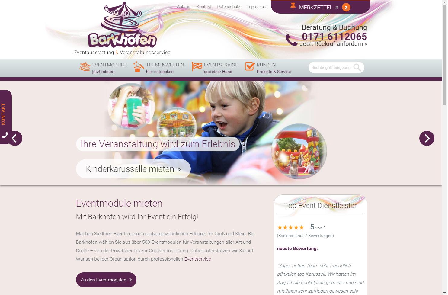 Startseite Barkhofen Eventausstattung und Veranstaltungsservice