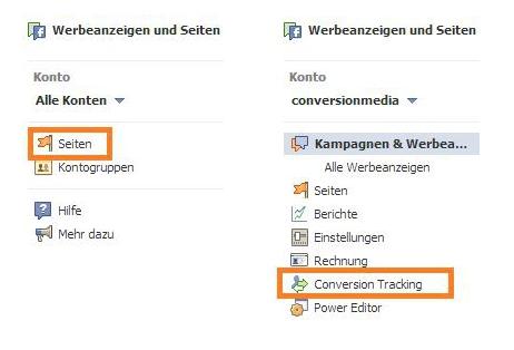 Facebook Werbeanzeigen Conversion Tracking