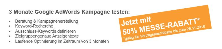 Angebot Google AdWords Kampagne testen