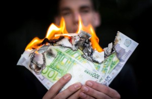 Geld-verbrennen