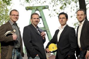 Die Conversionmedia-Geschäftsführer Dirk Preuten, Sebastian Stevens, Robert Klimossek und Sascha Krummeich