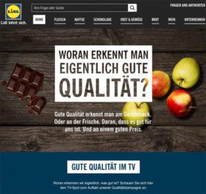 LIDL Imagewerbung: Woran erkennt man gute Qualität