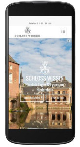 Mobile Ansicht der Schloss Webseite