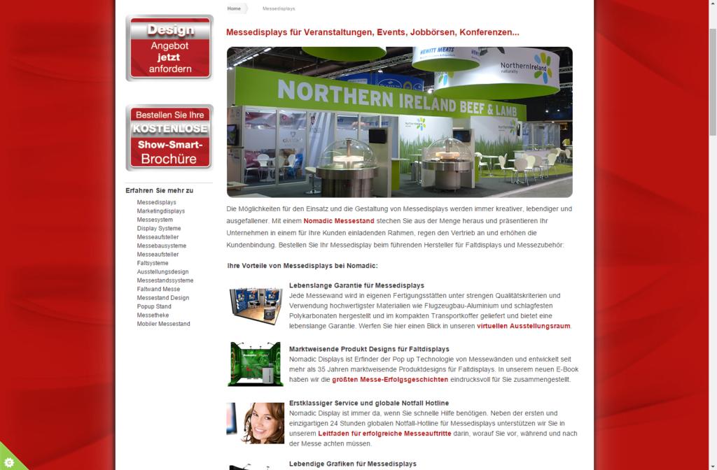 SEO Texte im Blog von Nomadic Display