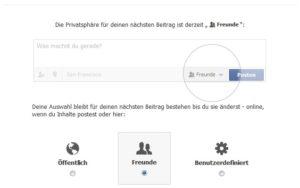 Die Einstellungen der Privatsphäre bei facebook