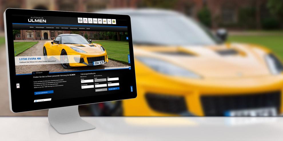 Referenz Autohaus Ulmen: conversionmedia erstellt Webseiten für Autohäuser.