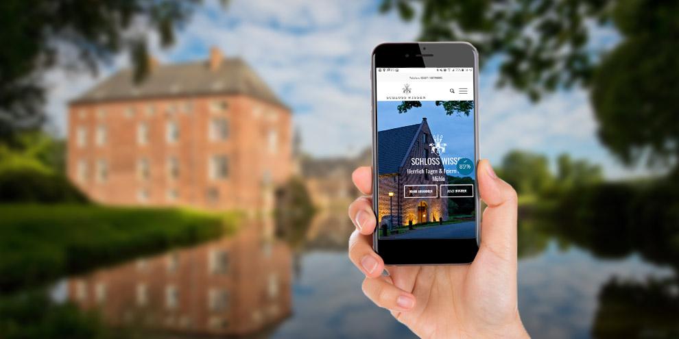 Referenz Schloss Wissen: conversionmedia erstellt kundenfreundliche Webseiten für die Touristik.