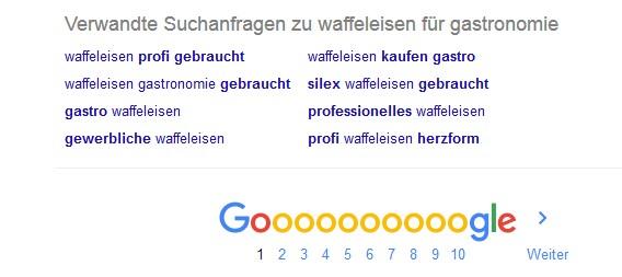 Wortkombinationen bei der Google Suche